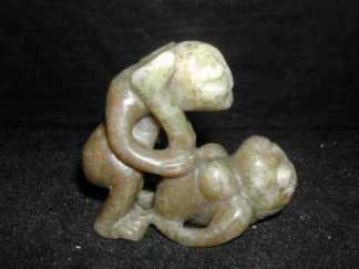 Hongshan Jade carving of sex- woman on back